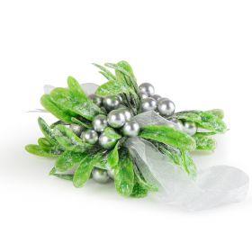 WONDER Zawieszka zielono-srebrna 12 cm