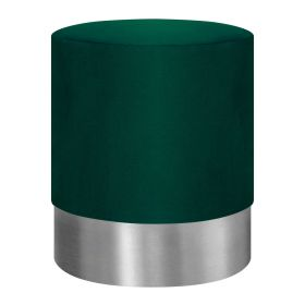 FICA Puf zielono-srebrny 35x42 cm