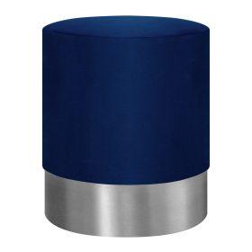 FICA Puf granatowo-srebrny 35x42 cm