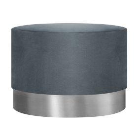 FICA BOOGIE Puf szaro-srebrny 50x35