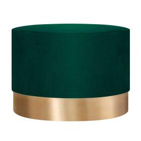 FICA BOOGIE Puf zielono-złoty 50x35