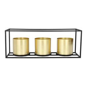 ROH Donica złota potrójna 48x16x18 cm