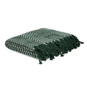 SPARRE Pled zygzak zielony 130x170 cm