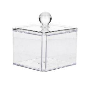 FALSA Szkatułka z pokrywką transparentna 9,5x9,5x10 cm