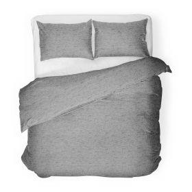 FELIX GREY Komplet pościeli bawełnianej szarej 200x220 cm
