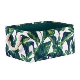 LEAVES Kosz łazienkowy z motywem liści 35x25x16 cm