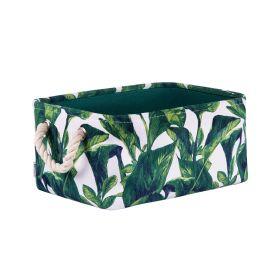 LEAVES Kosz łazienkowy z motywem liści 31x23x14 cm