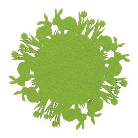 TILLY Zestaw 4 szt. podkładek filcowych zielonych 12 cm
