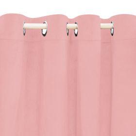 PATTY Zasłona welwetowa różowa 140x250 cm