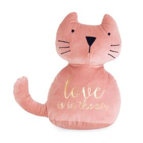 LUIS Stoper do drzwi kot różowy 25 cm