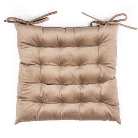ROOSVELT Poduszka na krzesło z wiązaniem beżowa 38x38 cm