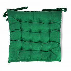 ROOSVELT Poduszka na krzesło z wiązaniem zielona 38x38 cm