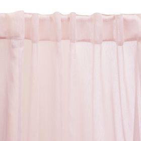 SHILA Firanka ze srebrną nitką różowa 140x250 cm