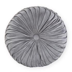 OLD FASHIONED Poduszka okrągła welurowa szara 40 cm