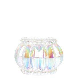 FOVI Lampion na tealight transparentny 7x7x5 cm