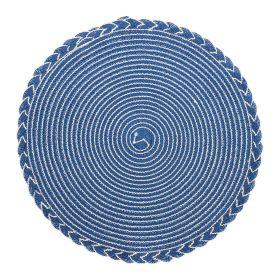 JONNA Podkładka do jadalni z przeszyciami niebieska 38 cm