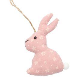 RYO Zawieszka królik różowa 12x8 cm