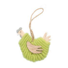 CAMRY Zawieszka kura zielona 8x8 cm