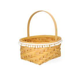 LIV Koszyk z pomponami 23x11 cm