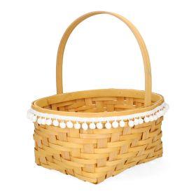 LIV Koszyk z pomponami 31x15 cm