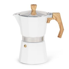 MIA MOKKA Kawiarka biała 6 cups