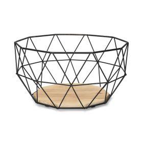 EYJA Koszyk okrągły czarny M 27 cm