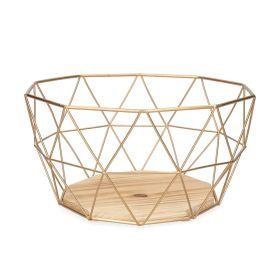 EYJA Koszyk okrągły złoty M 27x14 cm