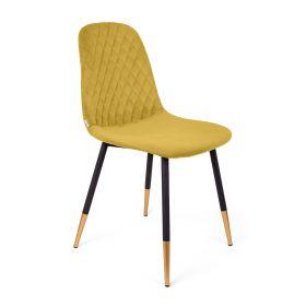 NOIR Krzesło musztardowe 44x52x85cm