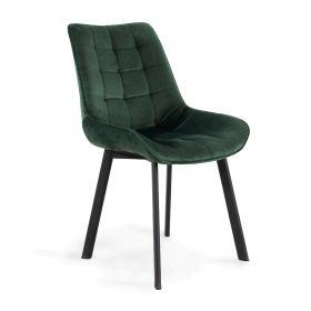COLIN Krzesło welurowe zielone 53x61x88cm