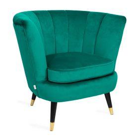 MELBY Fotel welurowy zielony 84x70x75 cm
