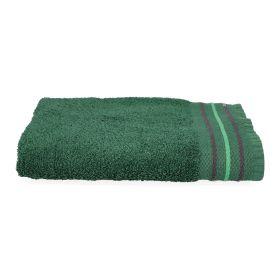 OCTOPUS Ręcznik bawełniany z lamówką ciemnozielony 50x90 cm