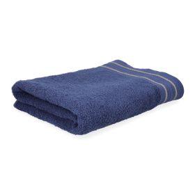 OCTOPUS Ręcznik bawełniany z lamówką granatowy 70x130 cm