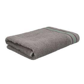 OCTOPUS Ręcznik bawełniany z lamówką szary 70x130 cm