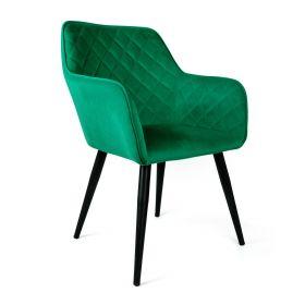 SHELTON Krzesło szmaragdowe 57x40x86 cm