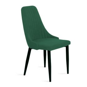 LOUIS Krzesło w tkaninie zielone 44x59x88 cm