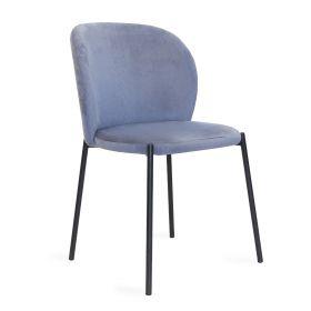 MALOY Krzesło sztruksowe granatowe 53x54x84 cm