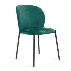 MALOY Krzesło sztruksowe zielone 53x54x84 cm