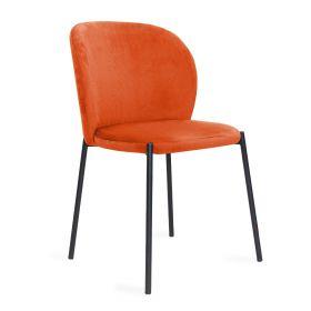 MALOY Krzesło sztruksowe pomarańczowe 53x54x84 cm