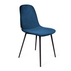 SLANK Krzesło welurowe kobaltowe 44x52x85cm