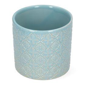 MALJA Osłonka ceramiczna niebieska 12x12x11 cm
