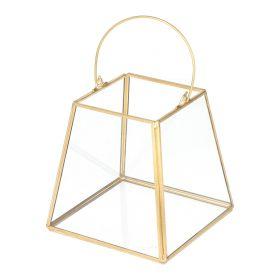 GRAZIA Lampion złoty 13x13x12 cm