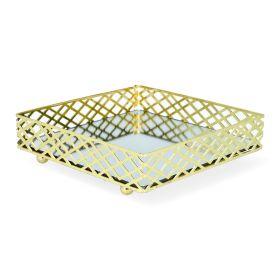 EEVI Taca lustrzana złota 20x20 cm