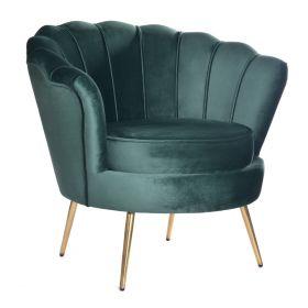 SHELLY Fotel turkusowy 82x75x76 cm