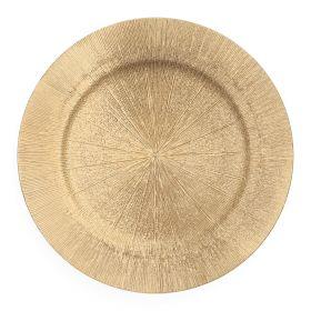 RAGGI Taca ozdobna złota 33 cm