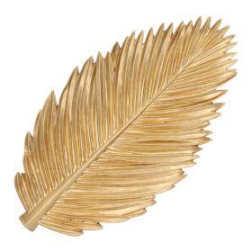BOE Taca liść palmy złota 27x15 cm