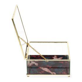 LOARE Szkatułka szklana 15x15x7 cm