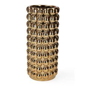 BUBBLE Wazon złoty 14x14x31 cm