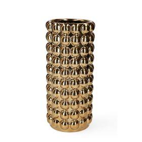BUBBLE Wazon złoty 12x25 cm