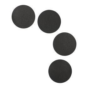 FEMELO Zestaw 4 szt. podkładek do jadalni czarnych 10 cm