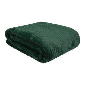 FLEN Koc z szerpą zielony 130x170 cm